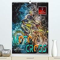Motocross - einfach faszinierend (Premium, hochwertiger DIN A2 Wandkalender 2022, Kunstdruck in Hochglanz): Motocross, faszinierender Extremsport mit spektakulaeren Spruengen (Monatskalender, 14 Seiten )