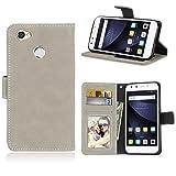 Ycloud Portefeuille Coque pour ZTE Blade A6 / A6 Lite Smartphone, Mate Texture PU Cuir Flip...