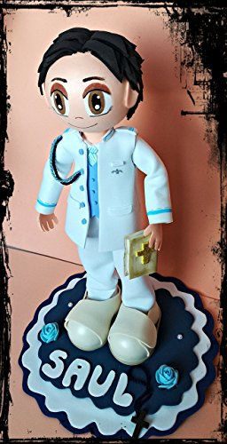Fofucha comunión niño personalizada Almirante 35 cms