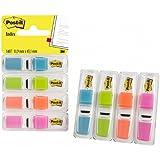 Post-It Index Small - Dispensador de índices adhesivos (4 unidades, 140 índices, 11.9 x 43.1 mm), colores surtidos