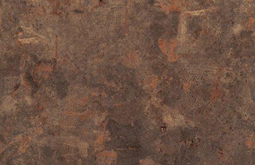 Werzalit Tischplatte Dekor Rostbraun 120x80 cm rechteckig wetterfest Ersatztischplatte Bistrotisch Stehtisch Tisch Gastronomie