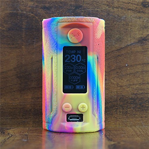 ModShield for Wismec Reuleaux RX GEN3 Dual 230W TC Silicone Case ByJojo Cover Shield Wrap Skin Sleeve (Tie Dye)
