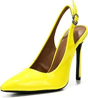 fereshte Womens Slingback High Heels Stiletto Pointed Toe Dress Pumps Shoes