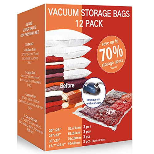 6. VacPack Space Saver Bags with Hand Pump