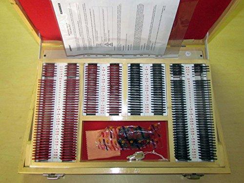 Trial Lens Set Verlicht in Houten Kast met Trial Frame Complete Set