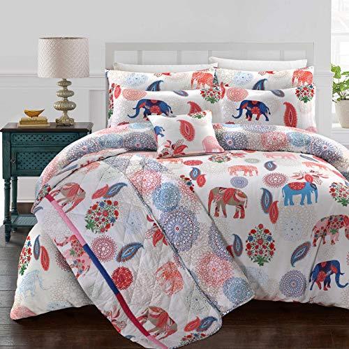 Nimsay Home Funda de edredón reversible 100% algodón, 140 x 220 cm y 1 funda de almohada de 60 x 70 cm