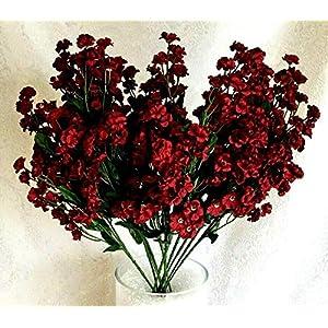 Artificial Gypsophila 12 pcs Silk Baby's Breath Flowers Wedding Filler Gyp Dozen