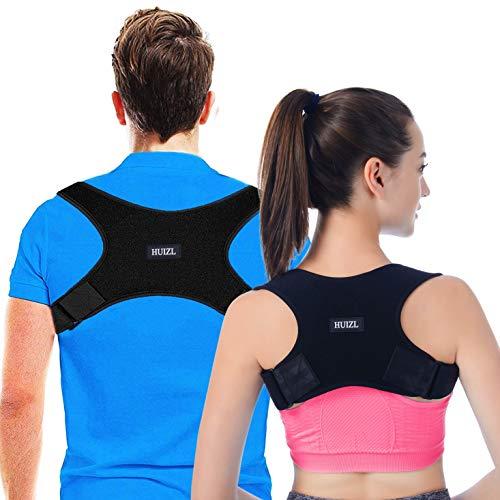Rücken Geradehalter Haltungskorrektur Rückenstütze Rückentrainer Schultergurt Haltungstrainer Posture Corrector für Nacken Schulterschmerzen Herren Damen