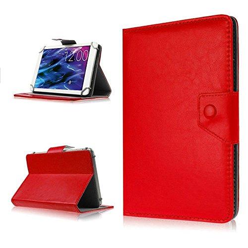 NAUC Schutz Tasche Medion Lifetab Tablet Schutz-Hülle Schutzhülle Case Cover Bag, Farben:Rot, Medion Tablet:Medion Lifetab S10346