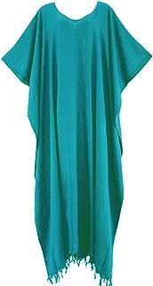 Beach Caftan Kaftan Loungewear Maxi Long Dress Plus XL to 4X