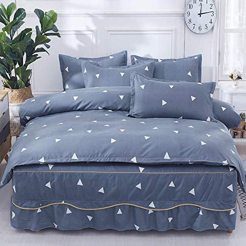 yaonuli Verdikking schuren vierdelige bed rok quilt bed rok liefde nest bed rok 200 * 220 quilt cover 200 * 230 kussensloop 2