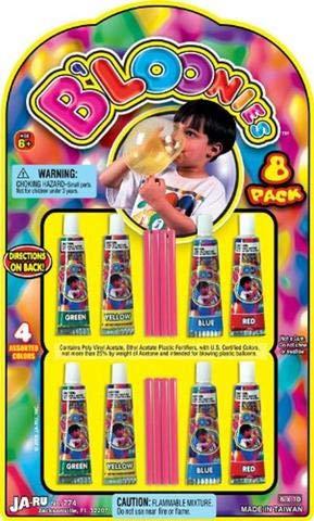 B'loonies Plastic Balloon Variety Great Original Bloonies Bubble Making. 774-1B