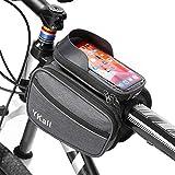 Bolsa Bicicleta Manillar, Bicicleta Impermeable con Pantalla Táctil Bolsa Bike Montaña Frame Bag, Gran Capacidad y Cubierta para la Lluvia, Adecuada para Teléfonos de hasta 6 Pulgadas