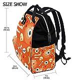 Bolsa de pañales Mummy Dad Happy Halloween Orange Eyeball Tote mochila de viaje escolar niño niña gran capacidad pañales para mamá hombres mujeres