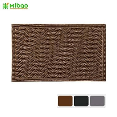 Mibao Entrance Scraper Door Mat Low Profile Welcome Entrance Mat, 18  x 30  ( Coffee )