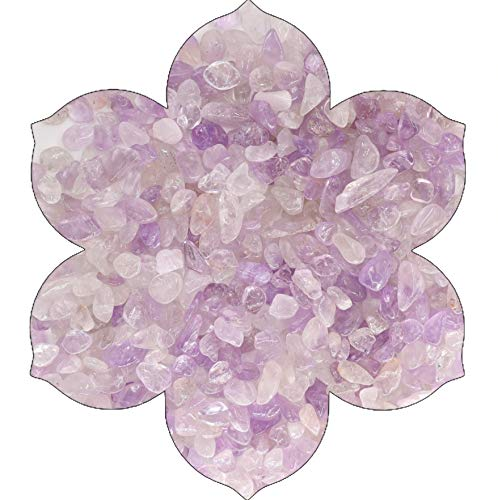 NatureWonders Amethyst (Lavender) Tumbled Chips (4 Cups) (About 3.72 lbs) for Vase Fillers, Candle Holders, Table Decorations, Wedding Centerpieces, Aquarium, Planter, Crafts, Art