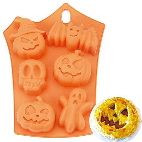 FantasyDay 2 Stück Premium Silikon Backform/Muffinform für Muffins, Cupcakes, Kuchen, Pudding, Eiswürfel und Gelee - Halloween Backform für eindrucksvolle Kreationen, hochwertige Silikon-Kuchenform