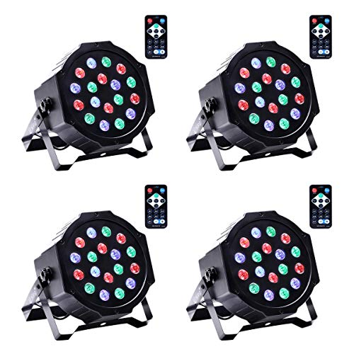 LED podiumlamp Par schijnwerper DMX512 RGBW podiumverlichting met draadloze afstandsbediening verlichting lichteffect voor Stage Lights Disco DJ Party Show Bar UKing 18 LED