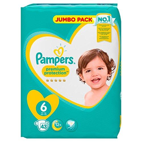 Pampers Premium Protection Größe 6 Extra Large 13+kg Jumbopack 43 Windeln