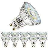 EACLL Bombillas LED GU10 4000K Blanco Neutro 5W Fuente de Luz 495 Lúmenes Equivalente 50W Halógena. AC 230V Sin Parpadeo Focos, Blanca Neutra natural 120 ° Lámpara Reflectoras, 10 Unidades