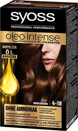 Syoss Oleo Intense Haarfarbe 4-18 Mokkabraun, 3er Pack (3 x 115 ml)