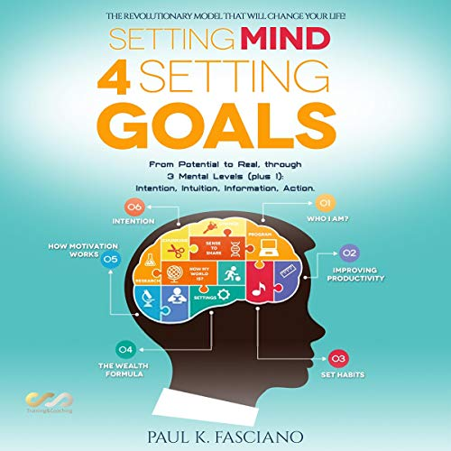 Setting Mind 4 Setting Goals: From Potential to Real, Through 3 Mental Levels (Plus 1): Intention, Intuition, Information, Action Audiobook By Paul K. Fasciano cover art