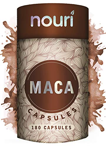 MAX Strength Maca Root Capsules | 180 x 5000mg Capsules | 6 Month Supply | Natural Well-Being & Brain Booster