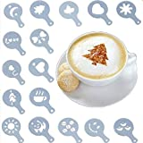 Fliyeong Phantasie Cappuccino Kaffee Kakao Latte Art Shaker Schablonen Dekoration Pot Schablone 16 Stück Set