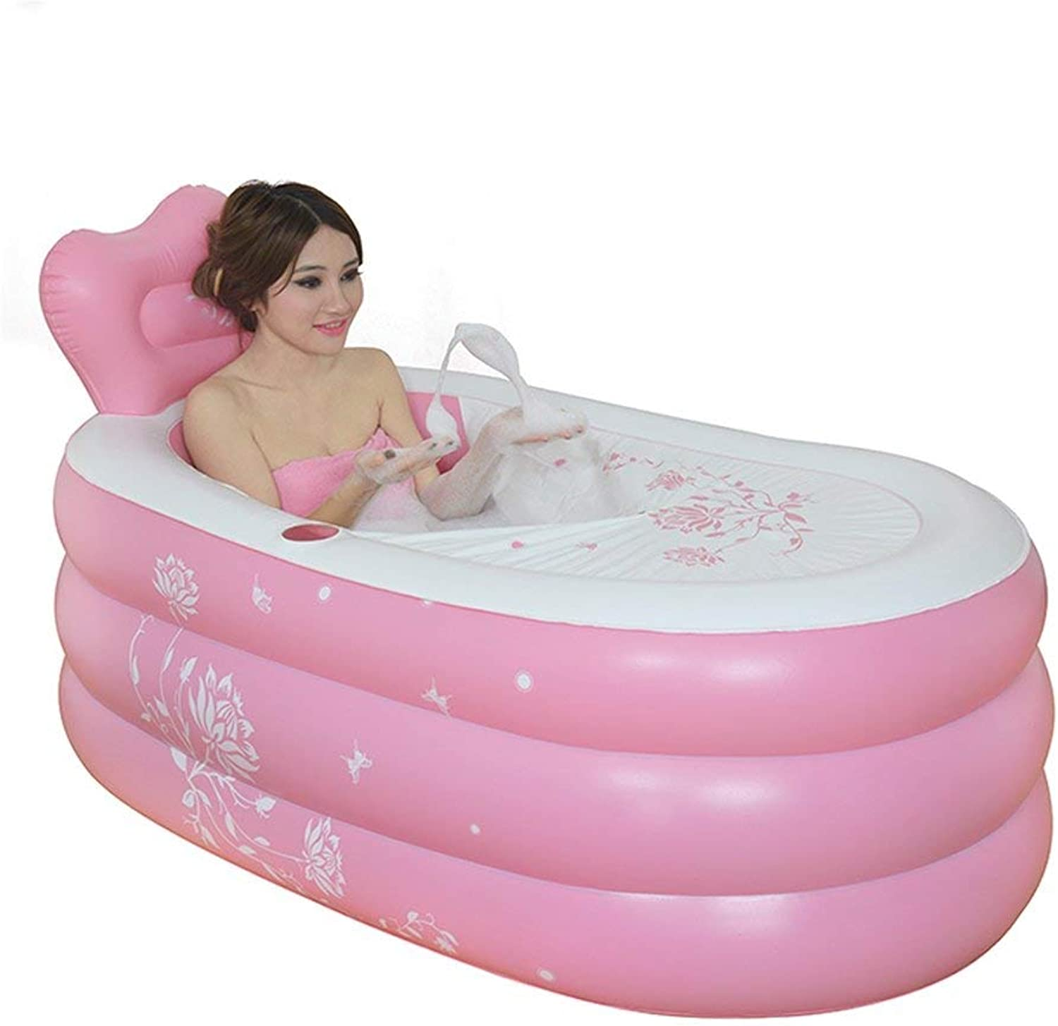YUANY AMOS Inflatable Bathtub (color  Pink, Size  S)