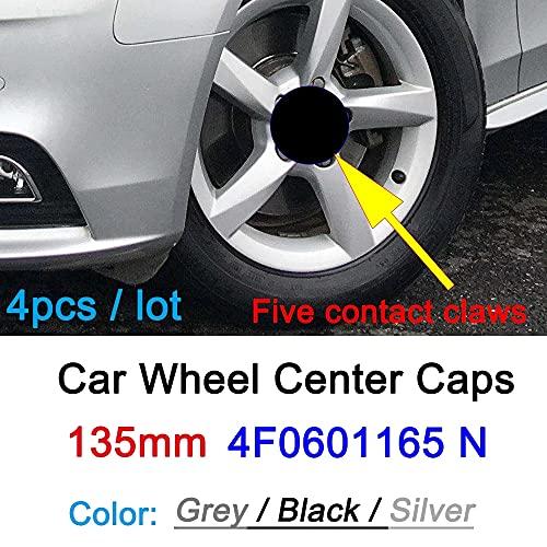4 Piezas 135mm De Tapas Rueda Centro Tapacubos De ABS Para Audi A3 A4 A5 A6 A7 A8 S4 S6,La Rueda Logo Insignia Coche Accesorios(4F0601165)