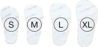 Attipas Acti-Fit Baby Shoes Insoles, White, Large