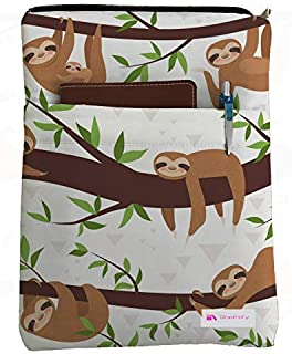 Sloths On Branches Book Sleeve - Book Cover for Hardcover and Paperback - Book Lover Gift - Notebooks and Pens Not Included