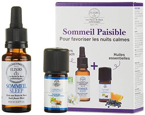 Duos Elixirs 20 ml et Huiles Essentielles 20 ml aux Fleurs de Bach BIO - Sommeil paisible (SYNERGIE 5 ML + ELIXIR 20 ML SOMMEIL)