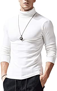 pipigo Mens Long Sleeve Slim Fit Striped Pullover Quarter-Zip Sweater