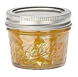 BALL MASON JARS  1440008003 - Frascos de vidrio de 135 ml, diseño de diamantes, 4piezas, color transparente