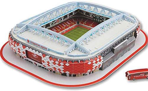 3D Stadium Model, Replica van de Russische Spartak Stadium, Children 'S DIY puzzel, ventilatoren en ventilatoren Souvenirs