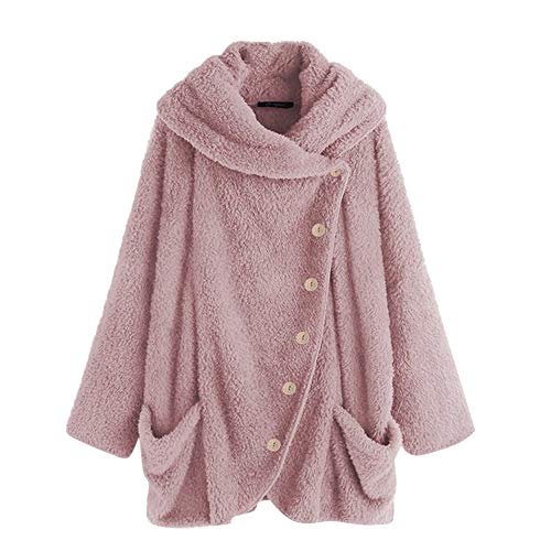 OSYARD Damen Reißverschluss Kapuzenpulli Mantel Winter Warme Wolltaschen Mantel Outwear, Frauen Wollmantel Fuzzy Sherpa Sweatshirt Fleece Pullover Warmer Sweatjacke Fleecejacken Strickjacke