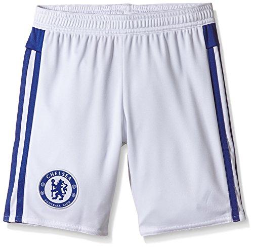 adidas Kinder Shorts FC Auswärts, White/Chelsea Blue, 140