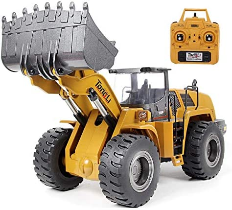 TongLi 583 1 14 Scale Metal RC Wheel Loader Toy Construction Trucks Vehicles Remote Control product image