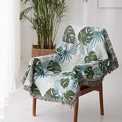 Summer Sofa Blanket Throws Sofatuch Full Cover Sofabezug Sofakissen Staubtuchschutz Cover Line Blanket Armchair Cover Leaf Pattern