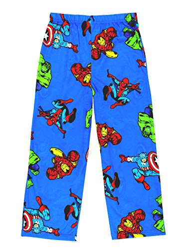 Avengers Boys Lounge Pajama Pants (Medium / 8-10, Blue)