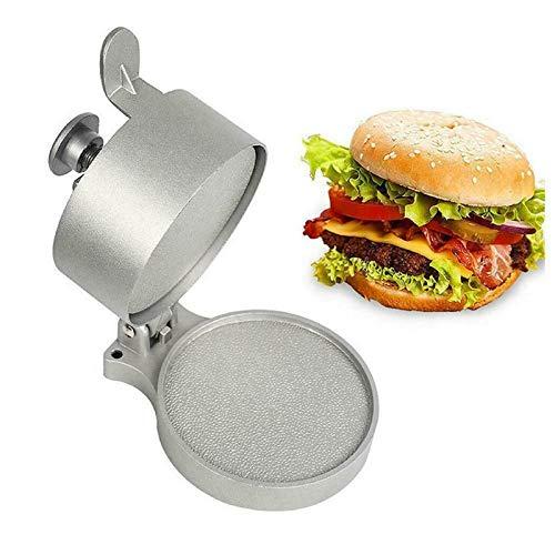 Prensa de hamburguesa ajustable, fabricante de empanadas de aluminio fundido antiadherente de grado alimenticio, hamburguesa de empanadas de 1/4 a 3/4 libras para deliciosas hamburguesas