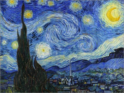 Poster 40 x 30 cm: Starry Night di Vincent Van Gogh - Stampa Artistica Professionale, Nuovo Poster Artistico