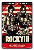 Asher Nostalgique rétro étain Signe métal-Rocky Balboa Film inspiré Boxe Gym Fitness rétro Mur Bande d'étain Plaque rétro décoration Murale Club Affiche, Taille 20cm*30cm (8inch * 12inch)