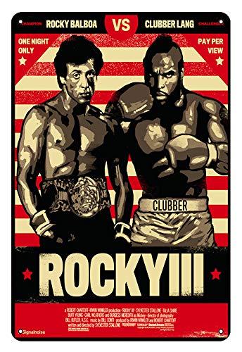 Asher Rocky Balboa - Placa de metal con diseño retro inspirado en el boxeo, el gimnasio o el gimnasio. Dimensiones: 20 x 30 cm.