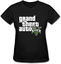 ZHENGXING Women's Grand Theft Auto V Logo Short Sleeve T-Shirt XXL ColorName