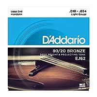 【2セット】D'Addario/ダダリオ EJ62[10-34] ループエンド マンドリン弦 80/20ブロンズ