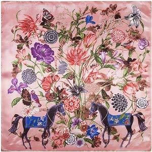Pañuelo Cuadrado Puro para Mujer Bufanda Arrugada Bufanda Grande con Estampado de Flores para Mujer - 921001