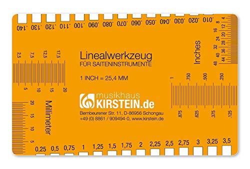 Kirstein Linealwerkzeug für Saiteninstrumente (geeignet für Saiteninstrumente wie Gitarre, Bass, Ukulele, Banjo und so weiter, kleines und kompaktes Format)