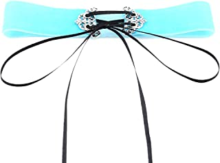Elegant Elegant Velvet Lace Adjustable Choker Necklace Charming Wedding Party Dress Jewelry Decoration for Women Girl,Colour Name:deep purple (Color : Silver)